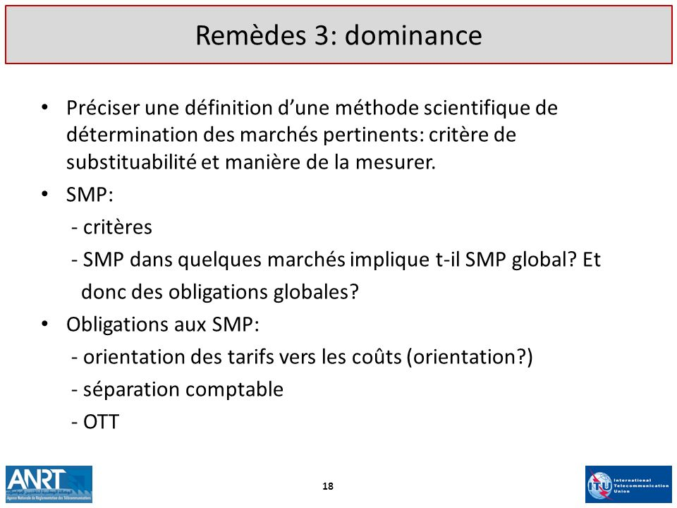 Remèdes 3: dominance