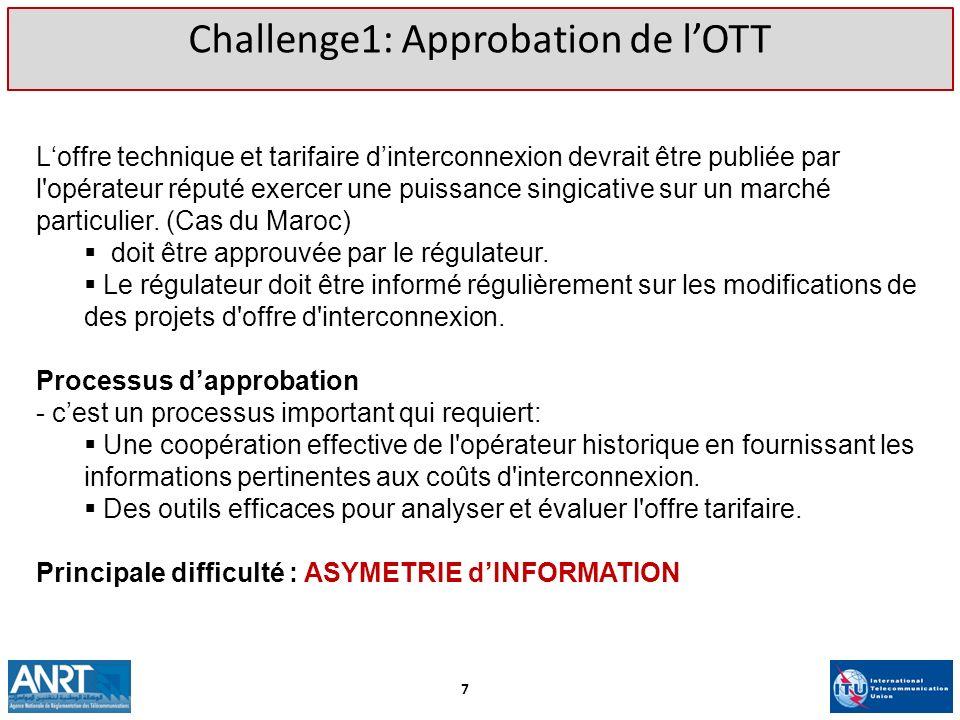 Challenge1: Approbation de l'OTT