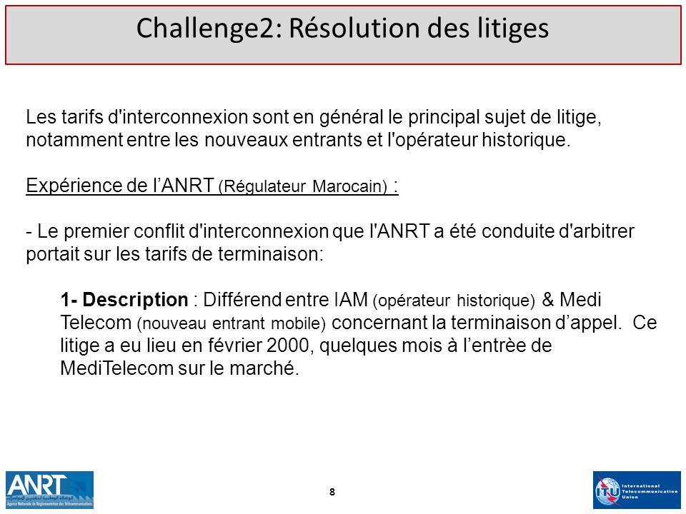 Challenge2: Résolution des litiges