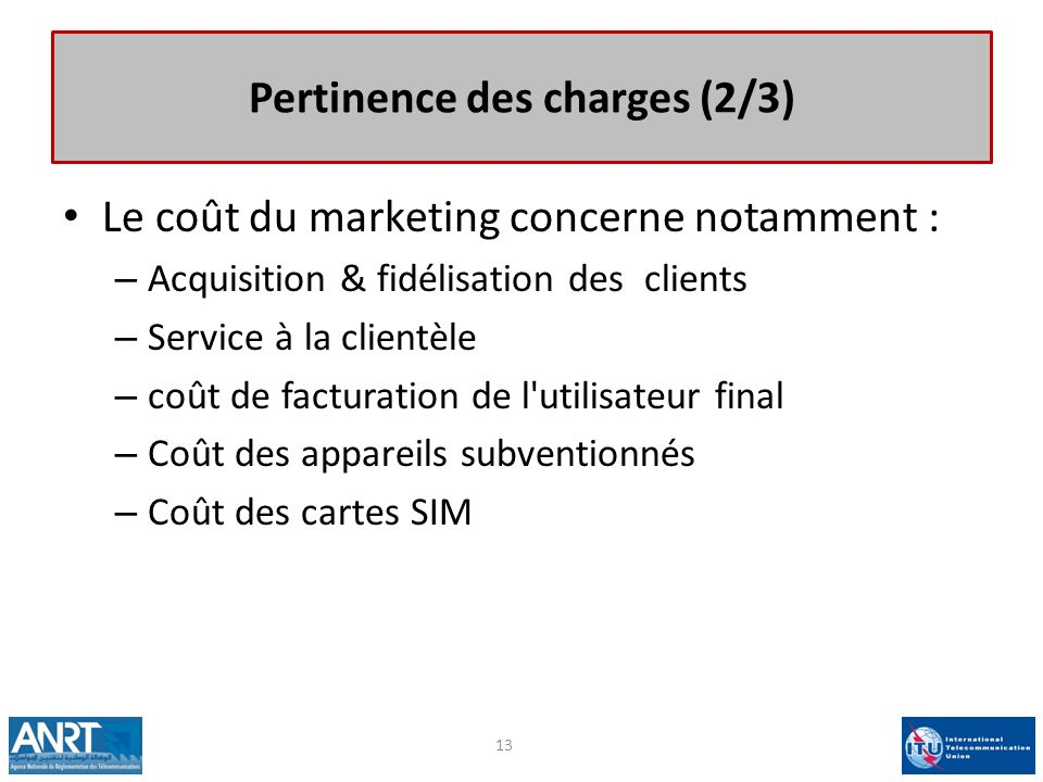 Pertinence des charges (2/3)