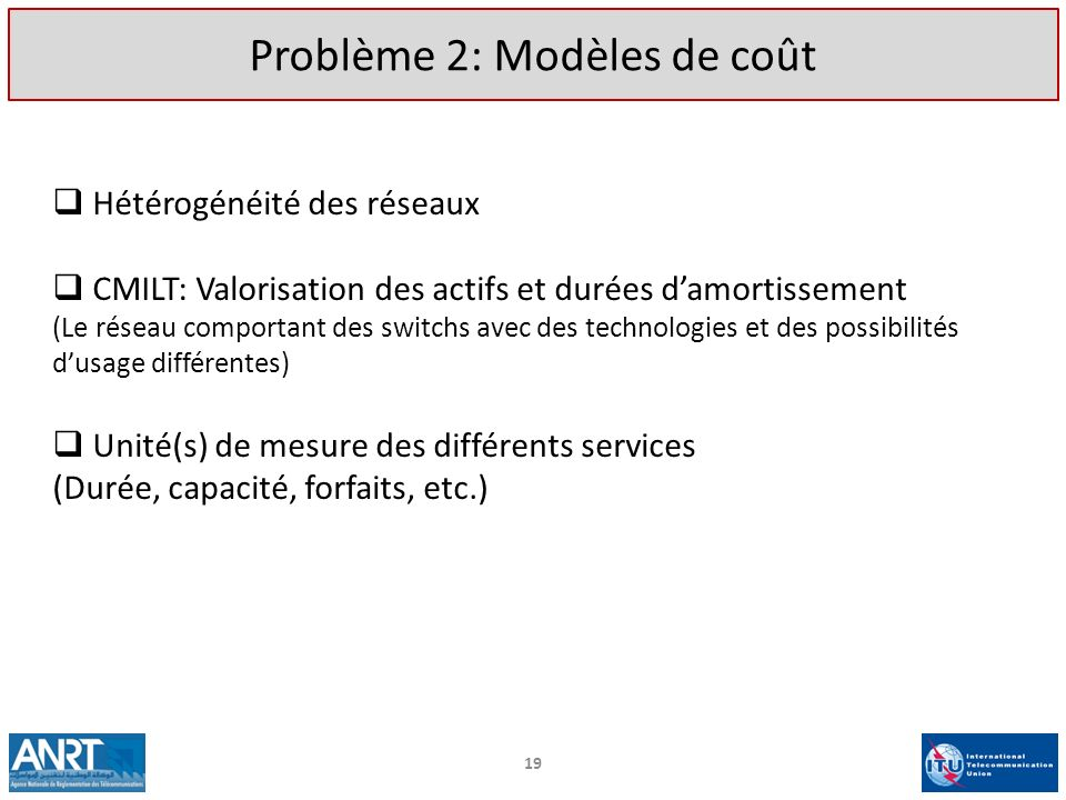 Problème 2: Modèles de coût