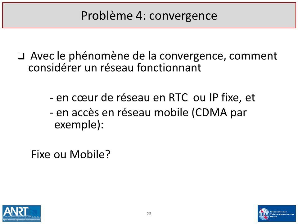 Problème 4: convergence