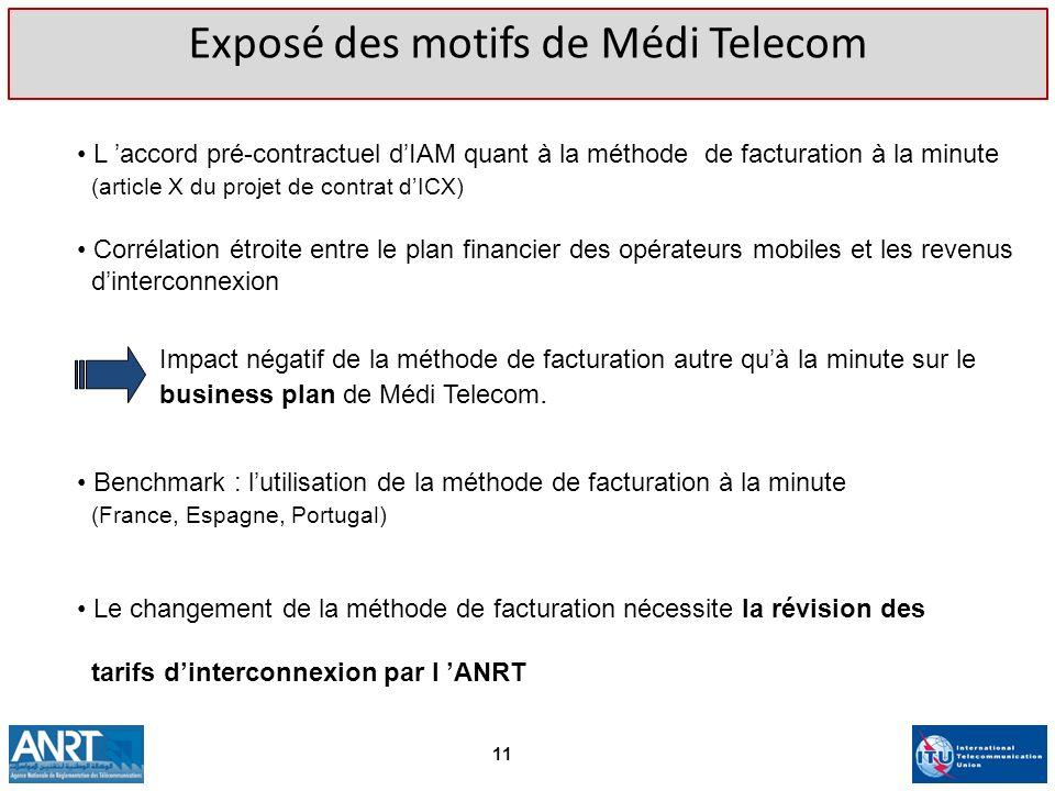 Exposé des motifs de Médi Telecom