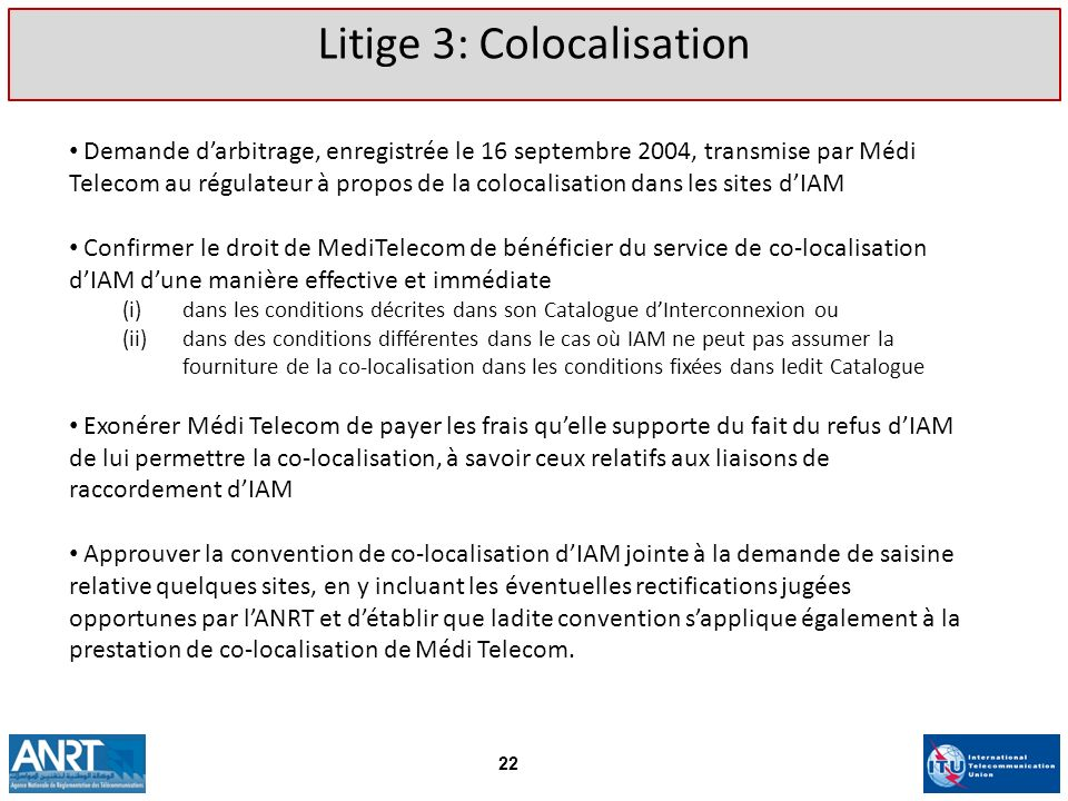 Litige 3: Colocalisation
