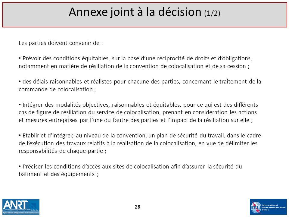 Annexe joint à la décision (1/2)