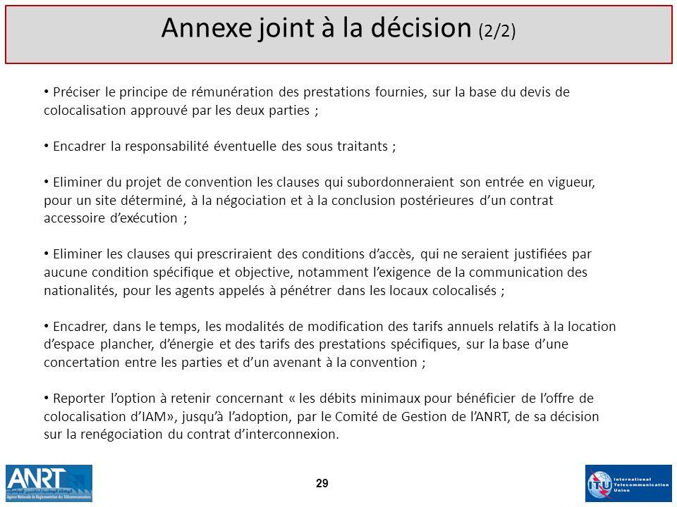 Annexe joint à la décision (2/2)