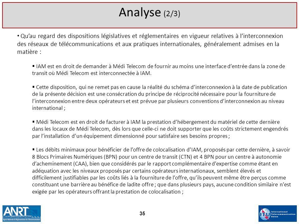 Analyse (2/3)