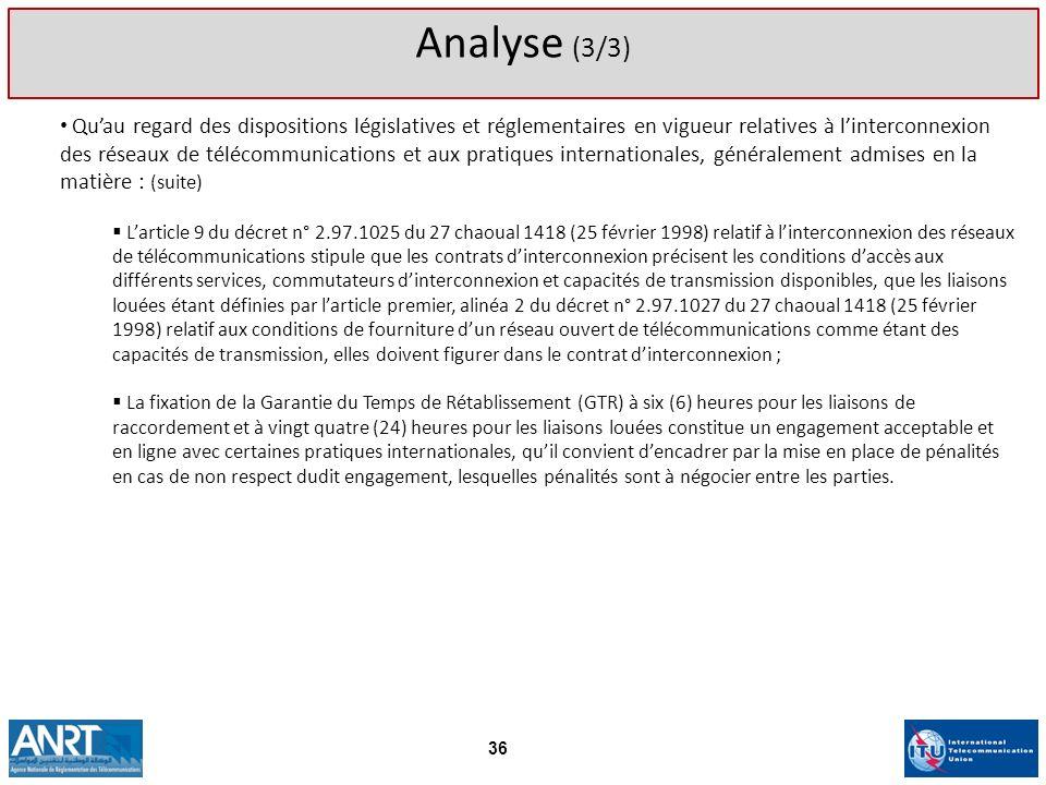 Analyse (3/3)