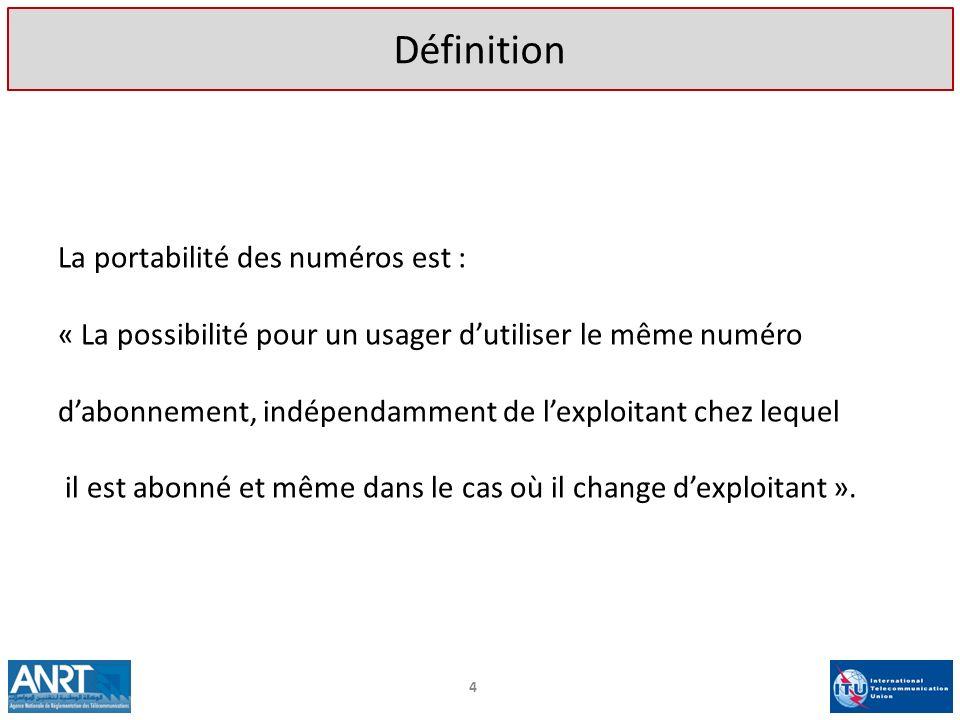 Définition La portabilité des numéros est :