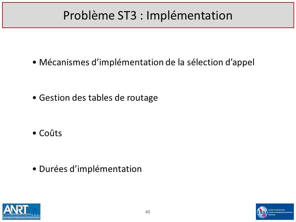Problème ST3 : Implémentation