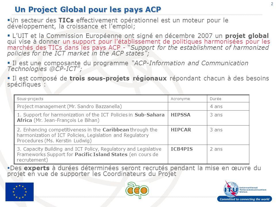 Un Project Global pour les pays ACP