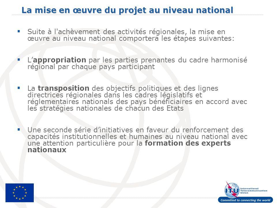 La mise en œuvre du projet au niveau national