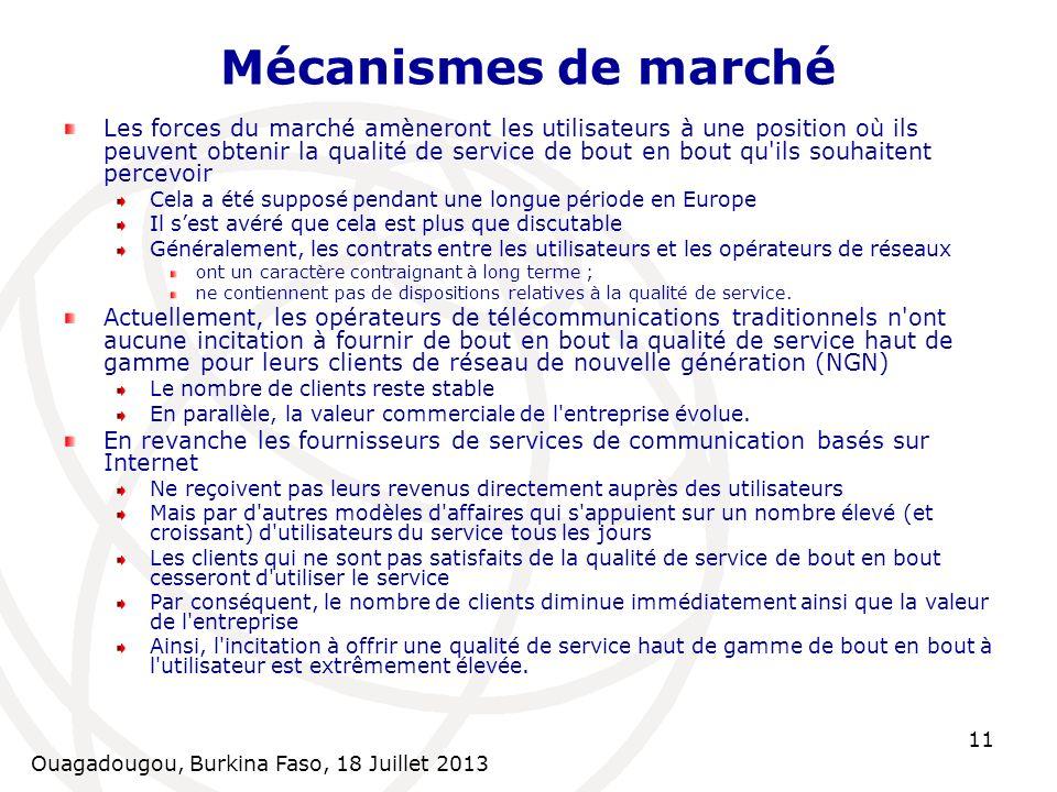 Mécanismes de marché