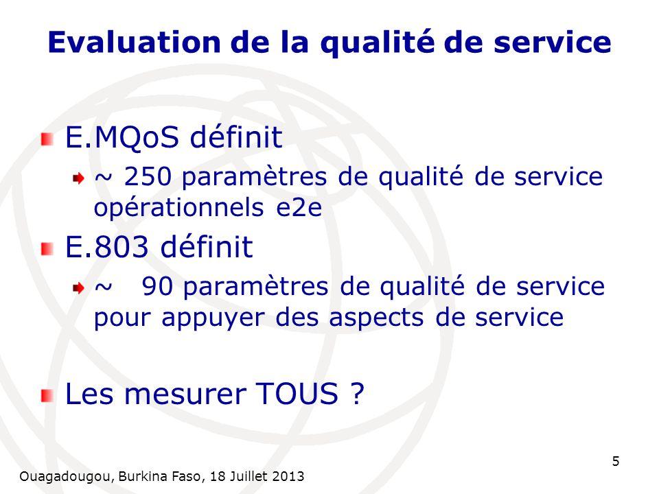 Evaluation de la qualité de service