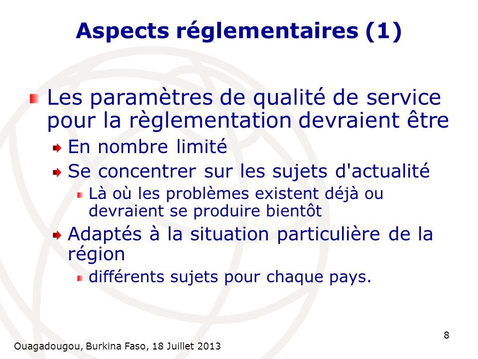 Aspects réglementaires (1)