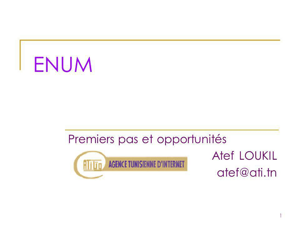 Premiers pas et opportunités Atef LOUKIL atef@ati.tn