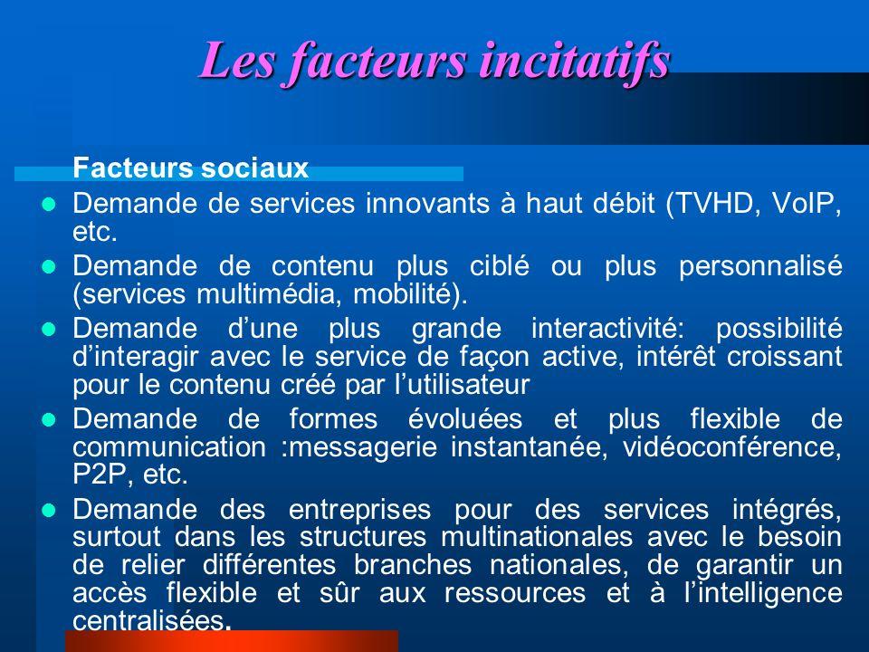 Les facteurs incitatifs