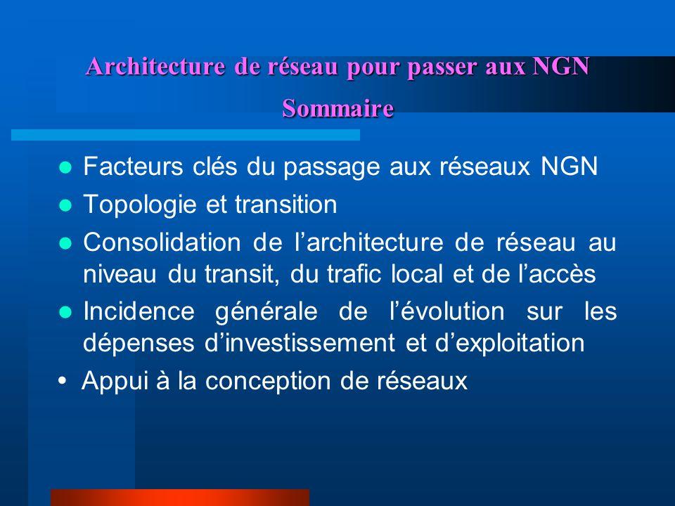 Architecture de réseau pour passer aux NGN Sommaire