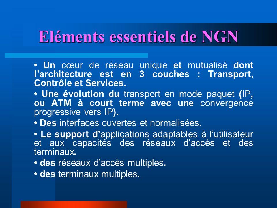 Eléments essentiels de NGN