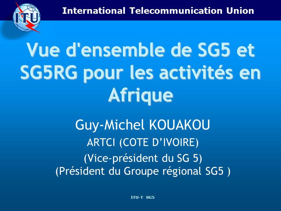 Vue d ensemble de SG5 et SG5RG pour les activités en Afrique