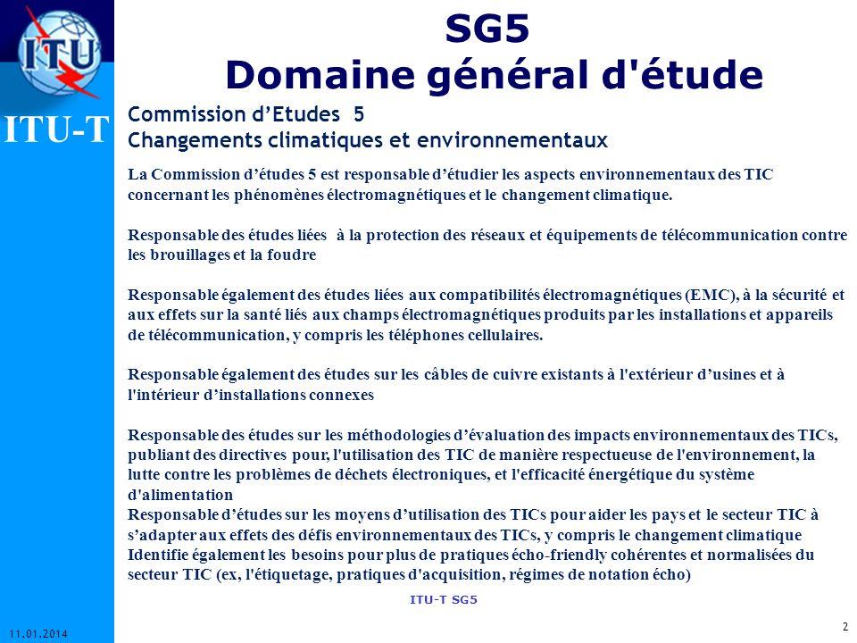 SG5 Domaine général d étude