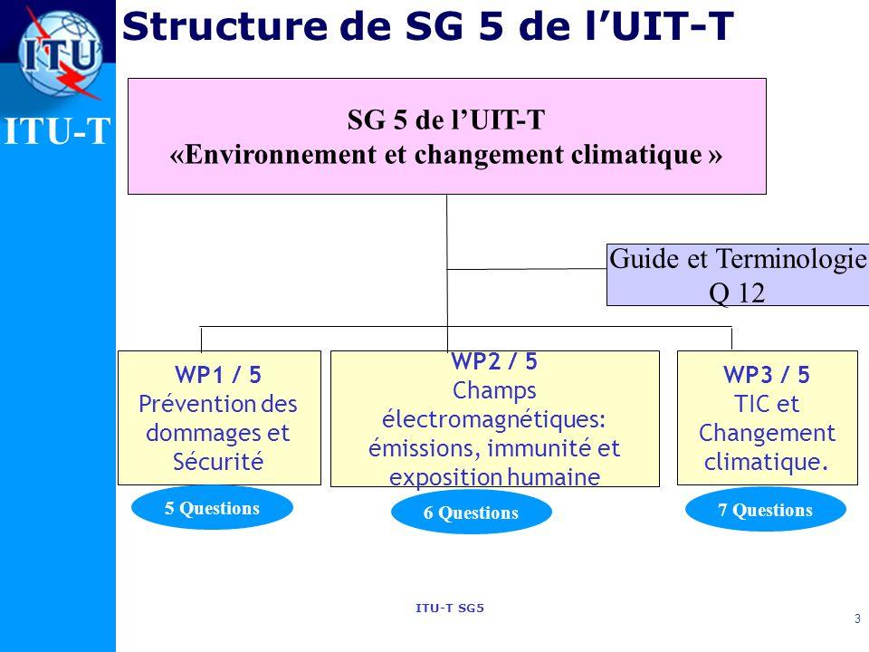 Structure de SG 5 de l'UIT-T