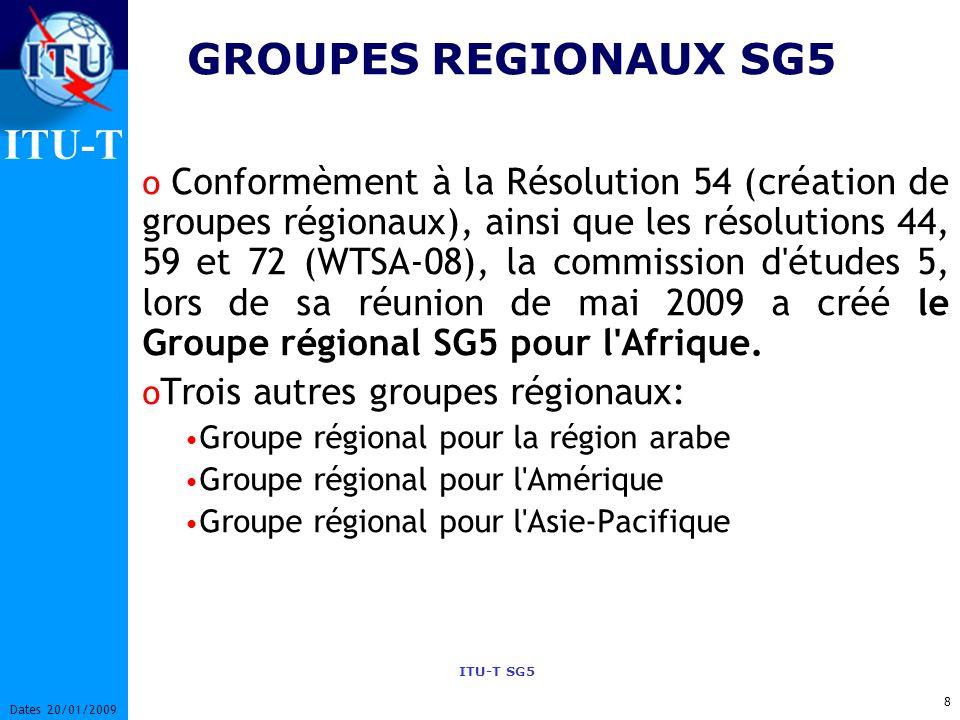 GROUPES REGIONAUX SG5