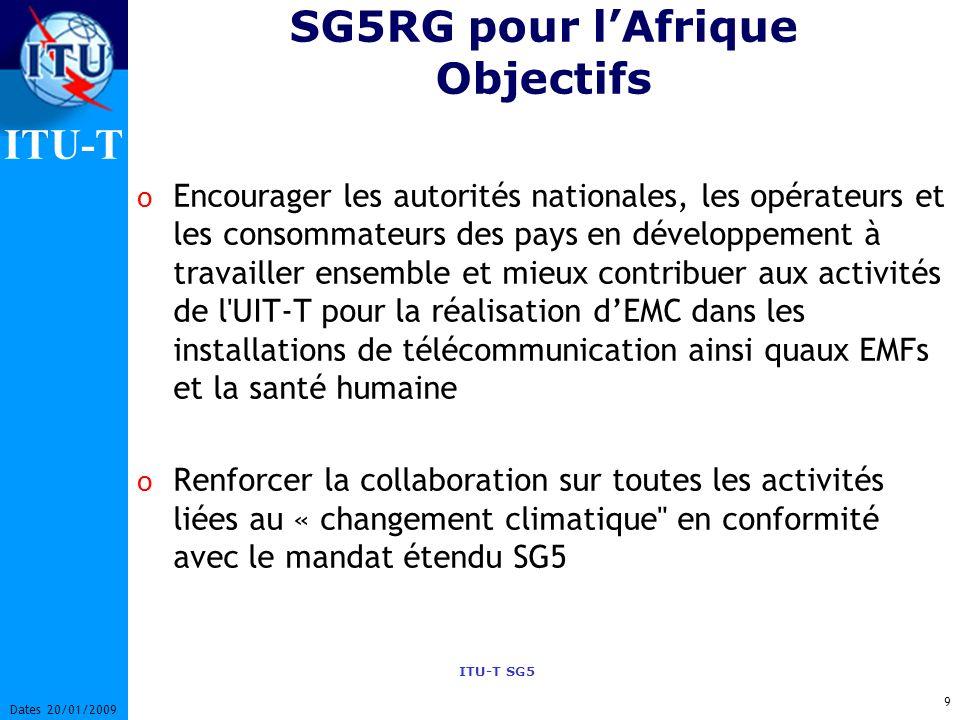 SG5RG pour l'Afrique Objectifs