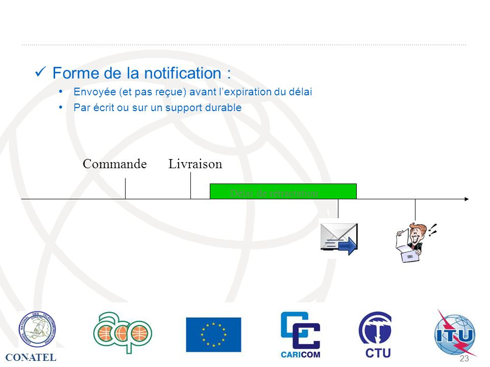 Forme de la notification :