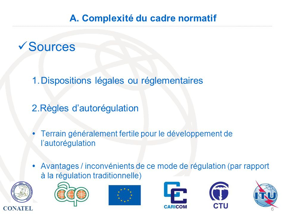 A. Complexité du cadre normatif