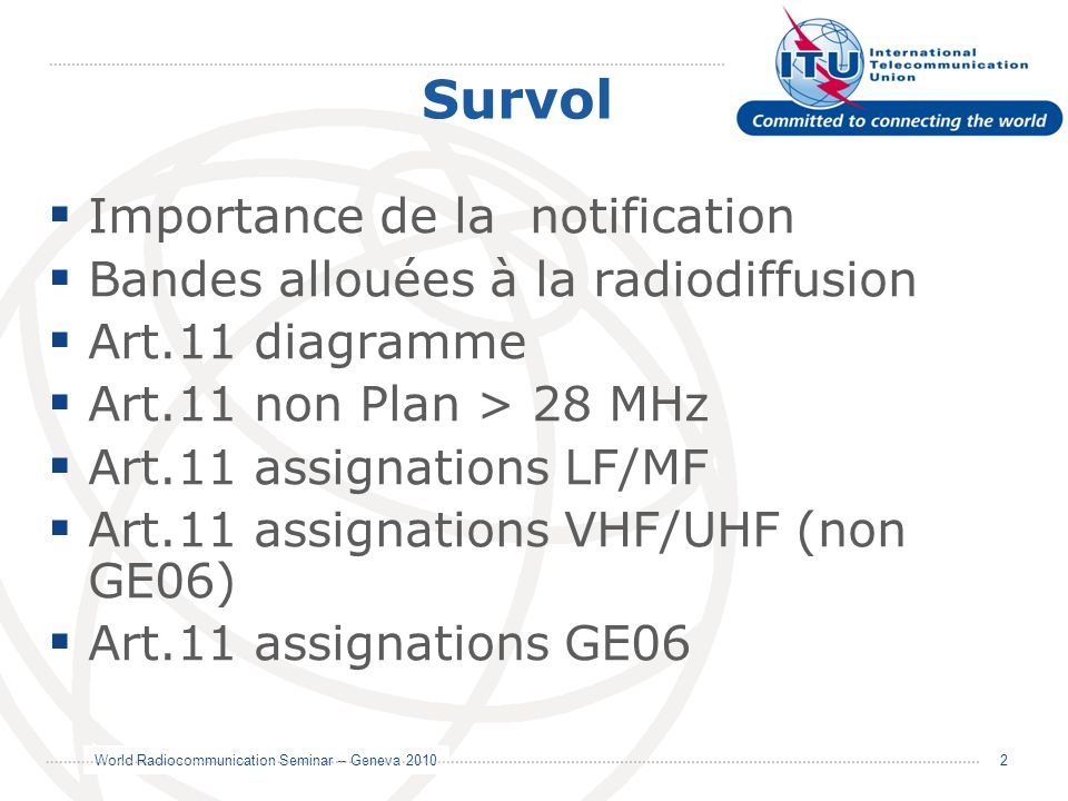 Survol Importance de la notification
