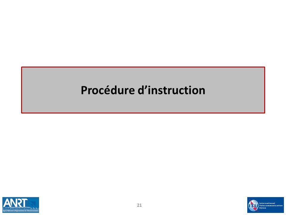 Procédure d'instruction