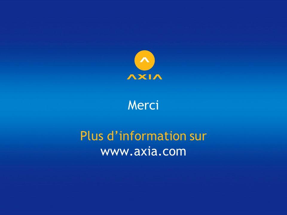 Merci Plus d'information sur www.axia.com
