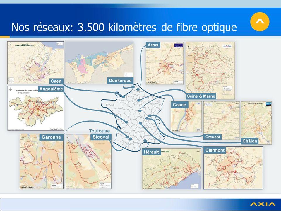 Nos réseaux: 3.500 kilomètres de fibre optique