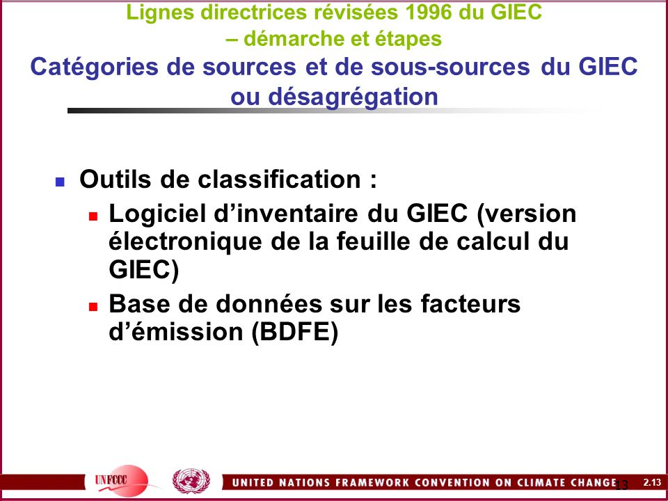 Outils de classification :
