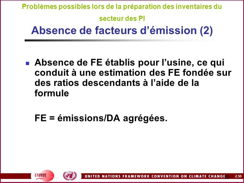 FE = émissions/DA agrégées.