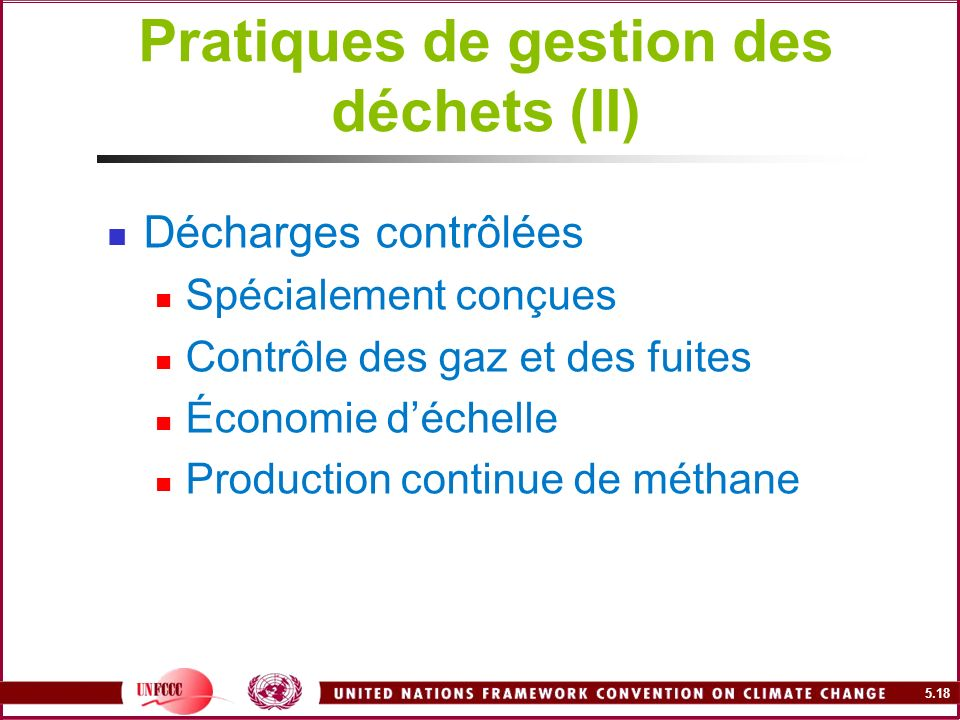 Pratiques de gestion des déchets (II)