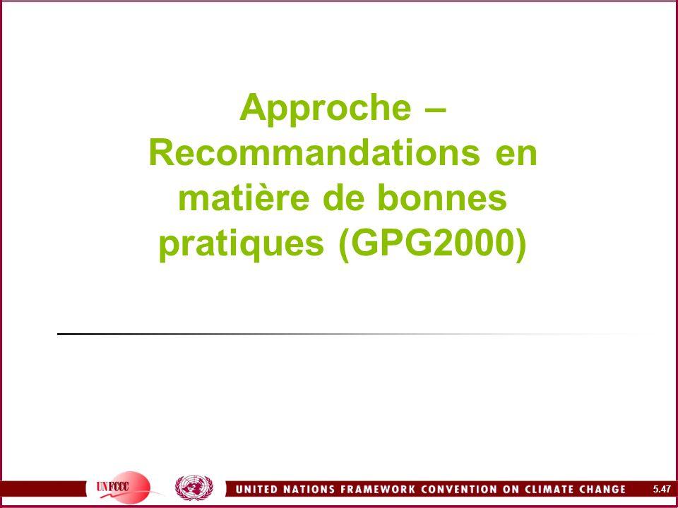 Approche – Recommandations en matière de bonnes pratiques (GPG2000)