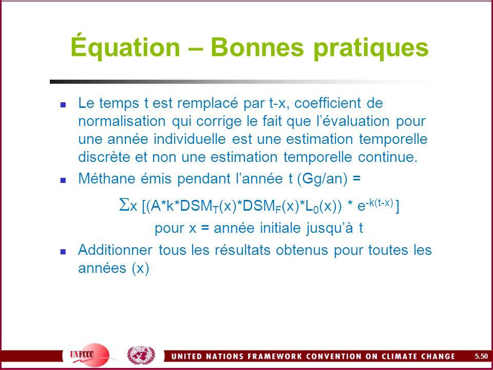 Équation – Bonnes pratiques