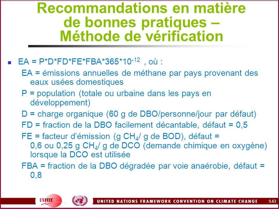 Recommandations en matière de bonnes pratiques – Méthode de vérification