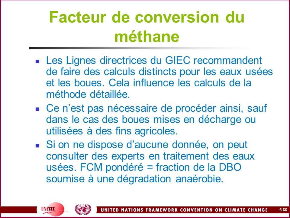 Facteur de conversion du méthane