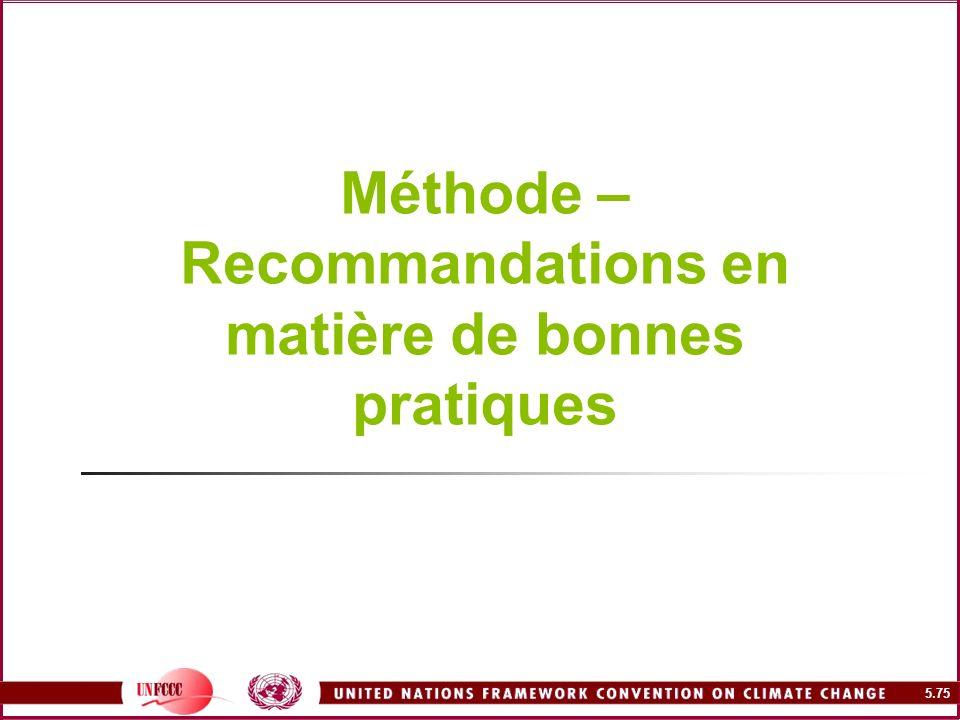 Méthode – Recommandations en matière de bonnes pratiques