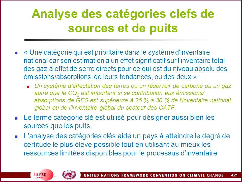Analyse des catégories clefs de sources et de puits