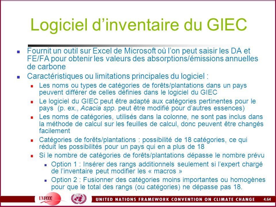Logiciel d'inventaire du GIEC