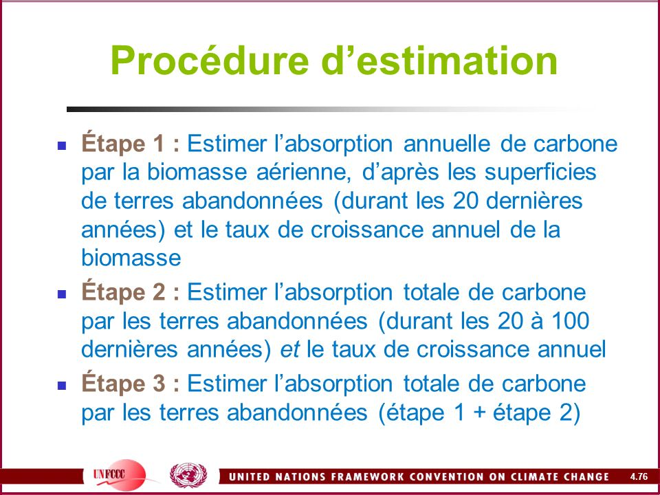 Procédure d'estimation