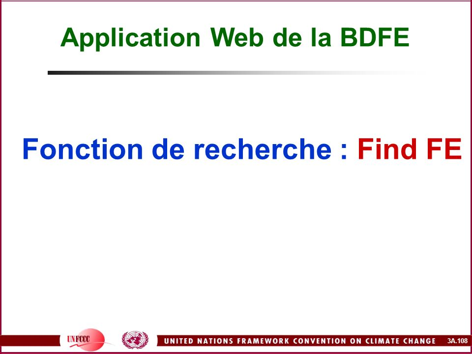 Application Web de la BDFE