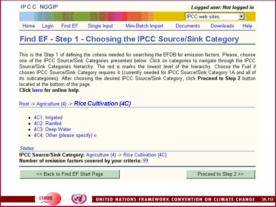 Première étape de la recherche : choisir la catégorie de source/de puits du GIEC.