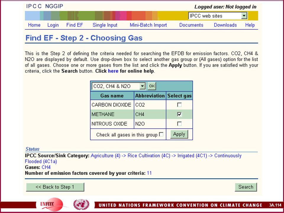 Deuxième étape de la recherche : choisir un gaz.