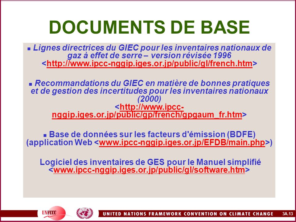 DOCUMENTS DE BASE