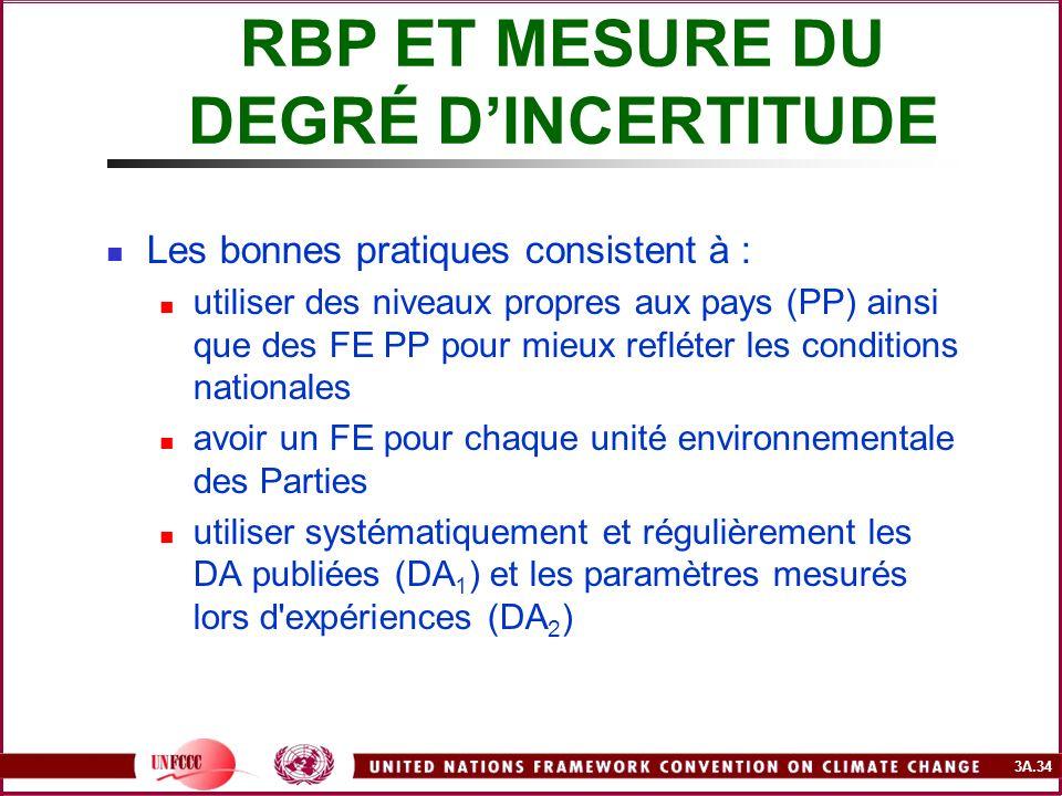 RBP ET MESURE DU DEGRÉ D'INCERTITUDE
